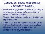 conclusion efforts to strengthen copyright protection