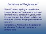 forfeiture of registration