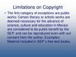 limitations on copyright