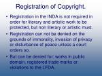 registration of copyright