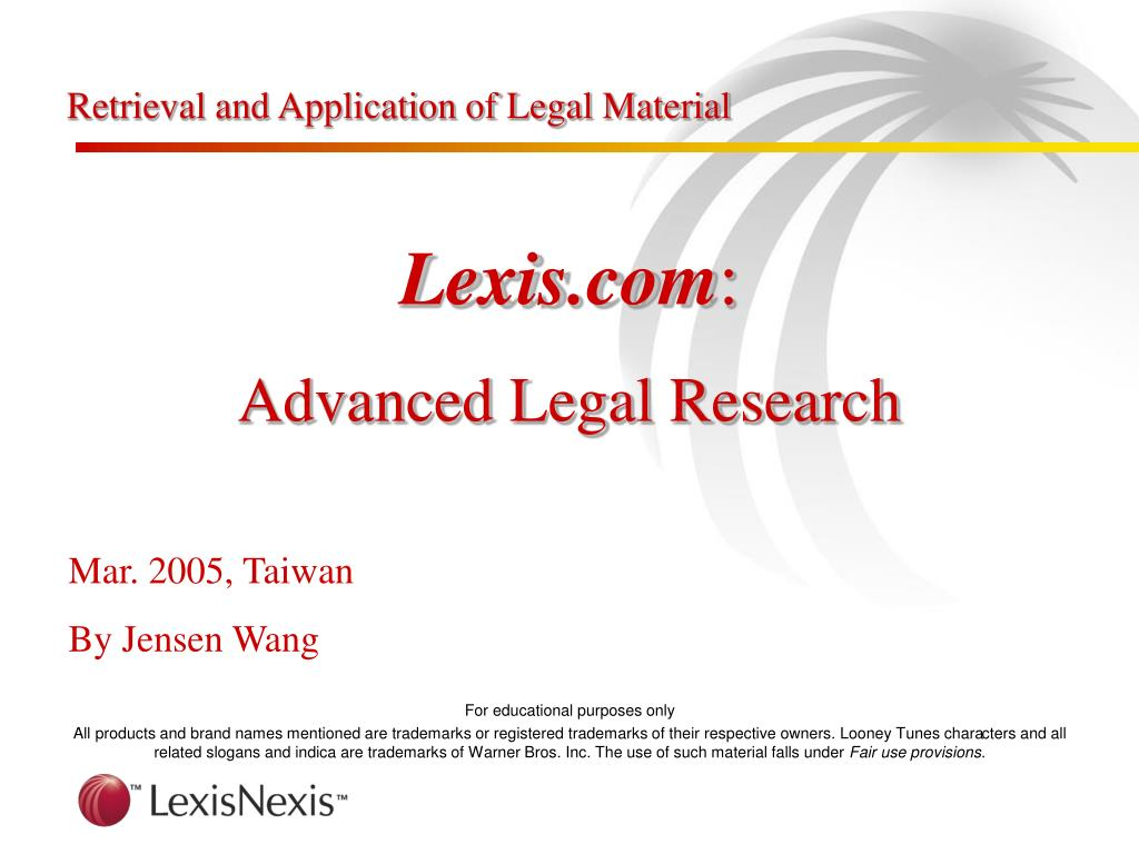 retrieval and application of legal material l.