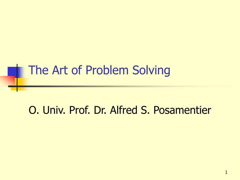 the art of problem solving l.