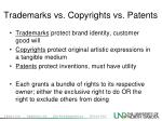 trademarks vs copyrights vs patents