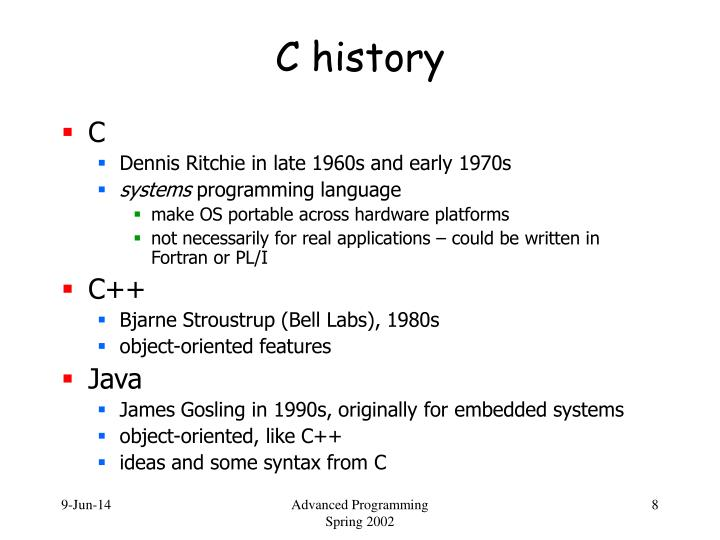 C history