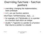 overriding functions function pointers