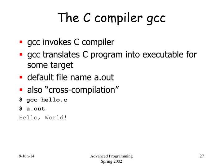 The C compiler gcc