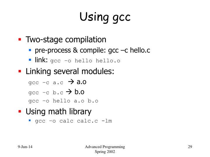 Using gcc