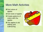 more math activities