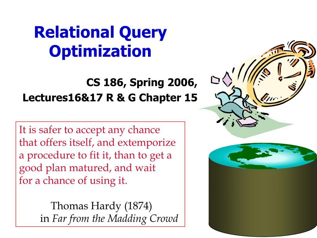 relational query optimization l.