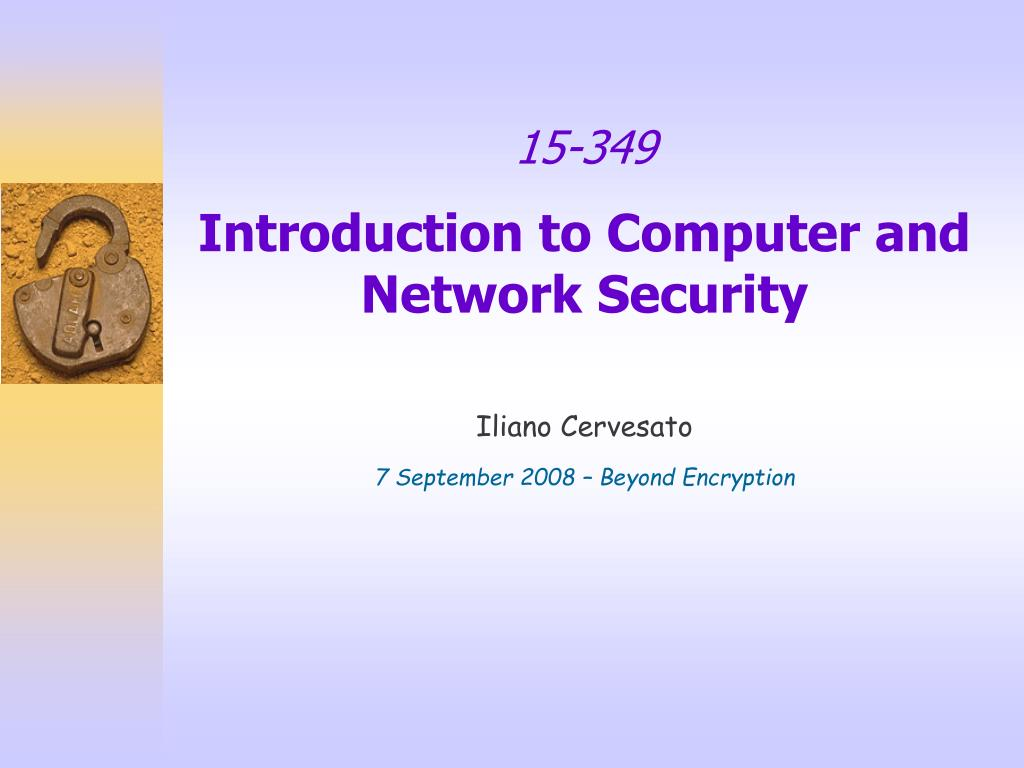 15 349 introduction to computer and network security l.