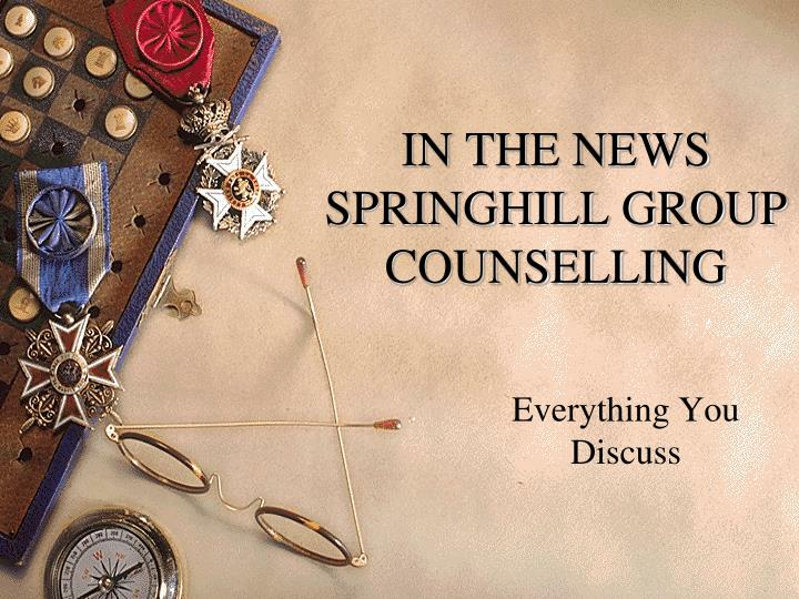 in the news springhill group counselling n.