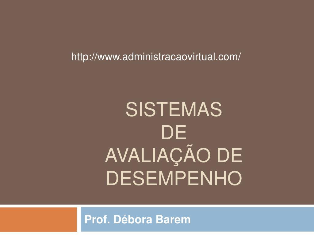 sistemas de avalia o de desempenho l.