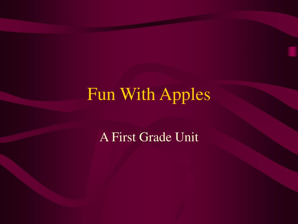 fun with apples l.