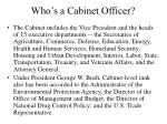 who s a cabinet officer