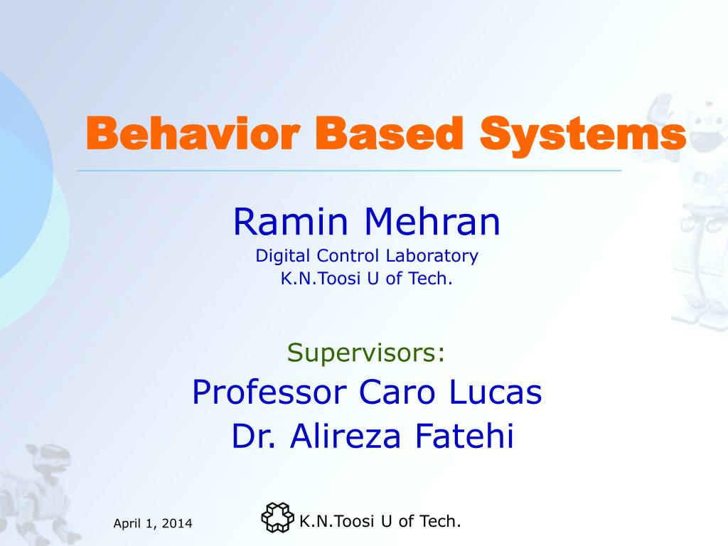 behavior based systems l.