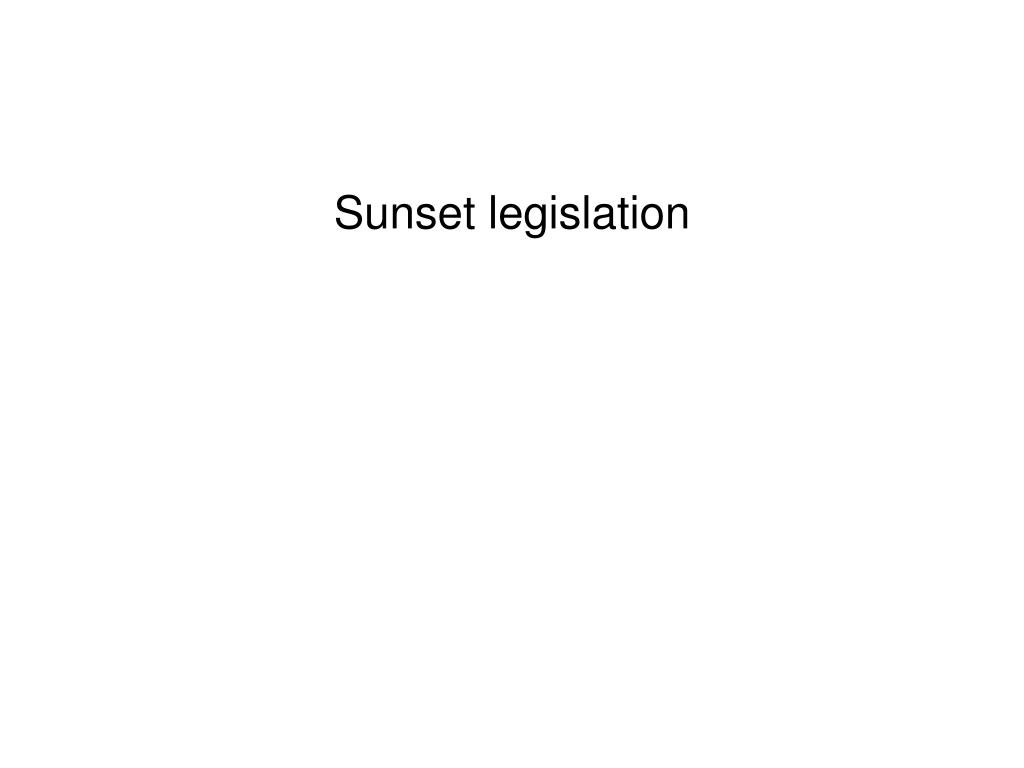 Sunset legislation