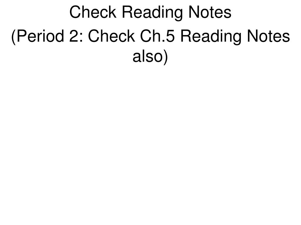 Check Reading Notes