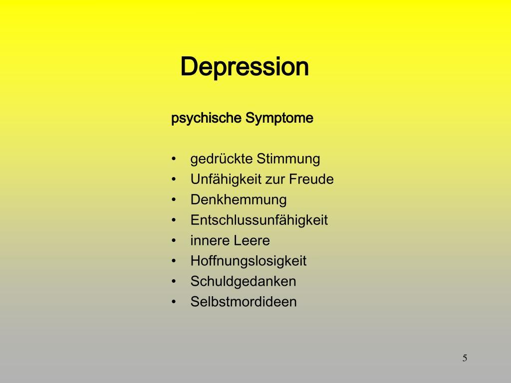 PPT - Verhaltenstherapie der Depression PowerPoint..
