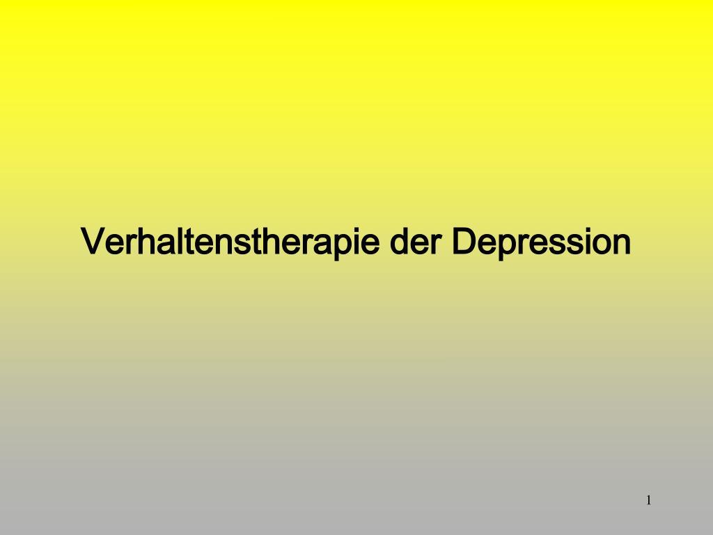 verhaltenstherapie der depression l.