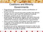 coalitions and minority governments