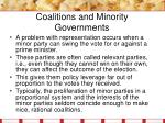 coalitions and minority governments11