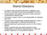 district elections