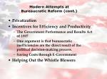 modern attempts at bureaucratic reform cont