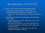 bureaucracy in the field39
