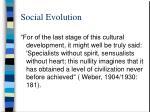 social evolution90