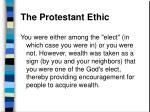 the protestant ethic41