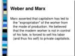 weber and marx77