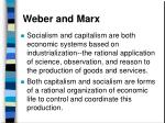 weber and marx81