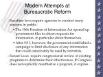 modern attempts at bureaucratic reform