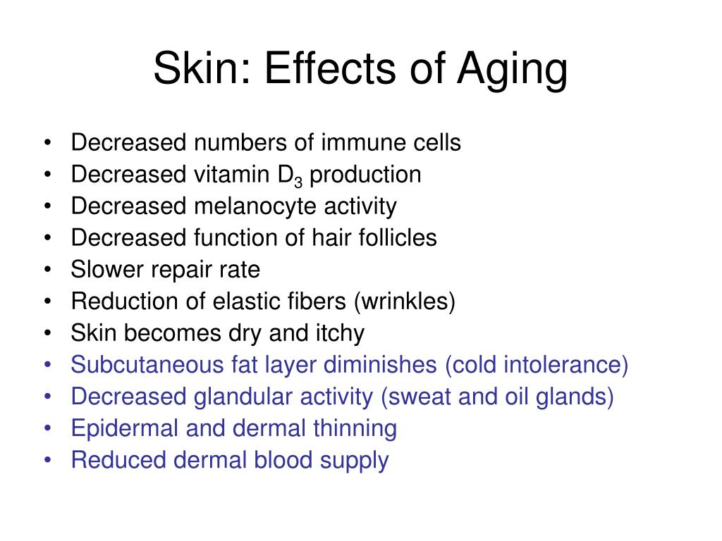 Skin: Effects of Aging
