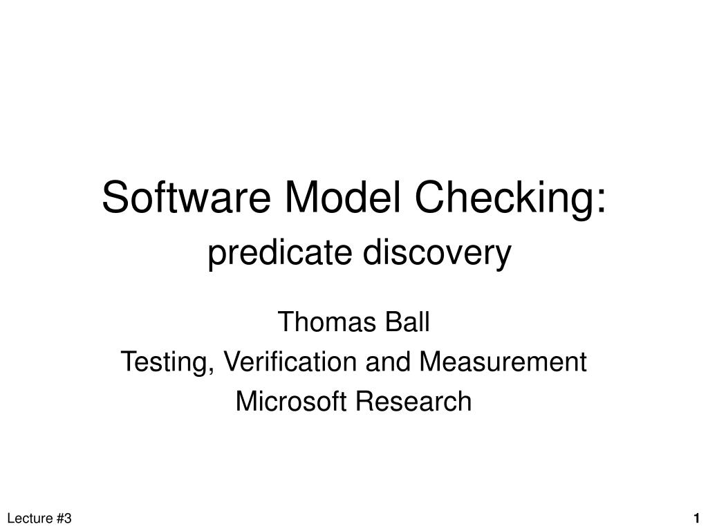 software model checking predicate discovery l.