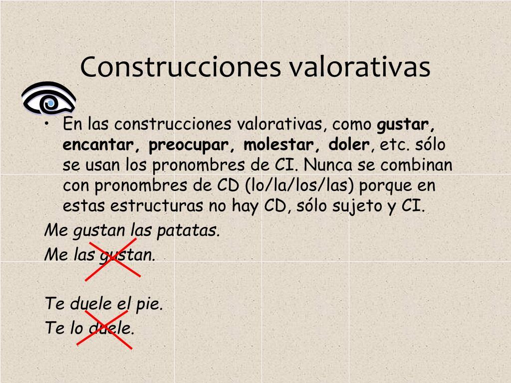 Construcciones valorativas
