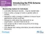 introducing the pvg scheme chapter 1 of the guidance 1 7
