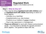 regulated work chapter 2 of the guidance 2 4 2 5