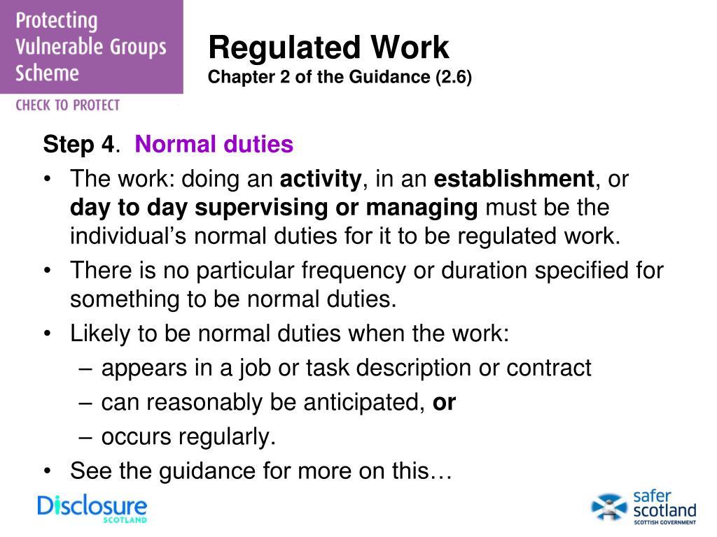 Regulated Work