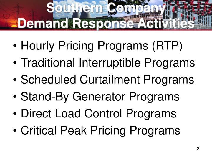 Southern company demand response activities