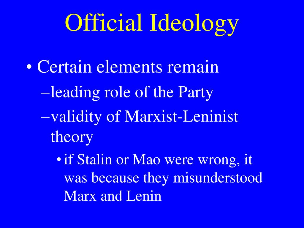 Official Ideology