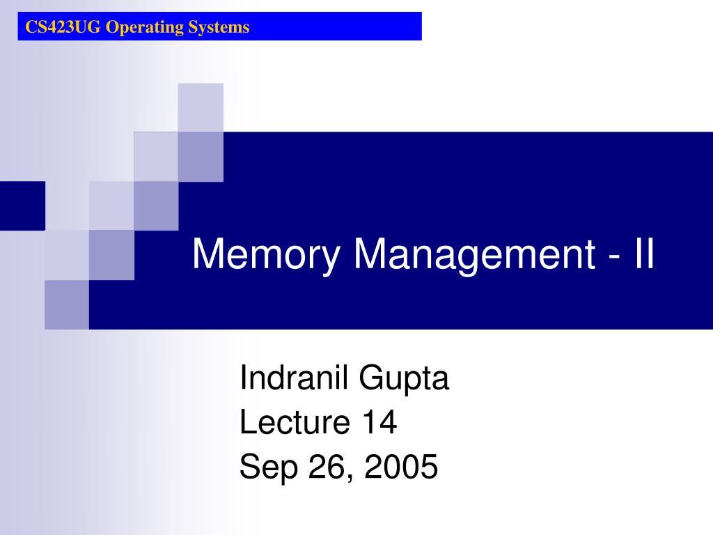 memory management ii l.