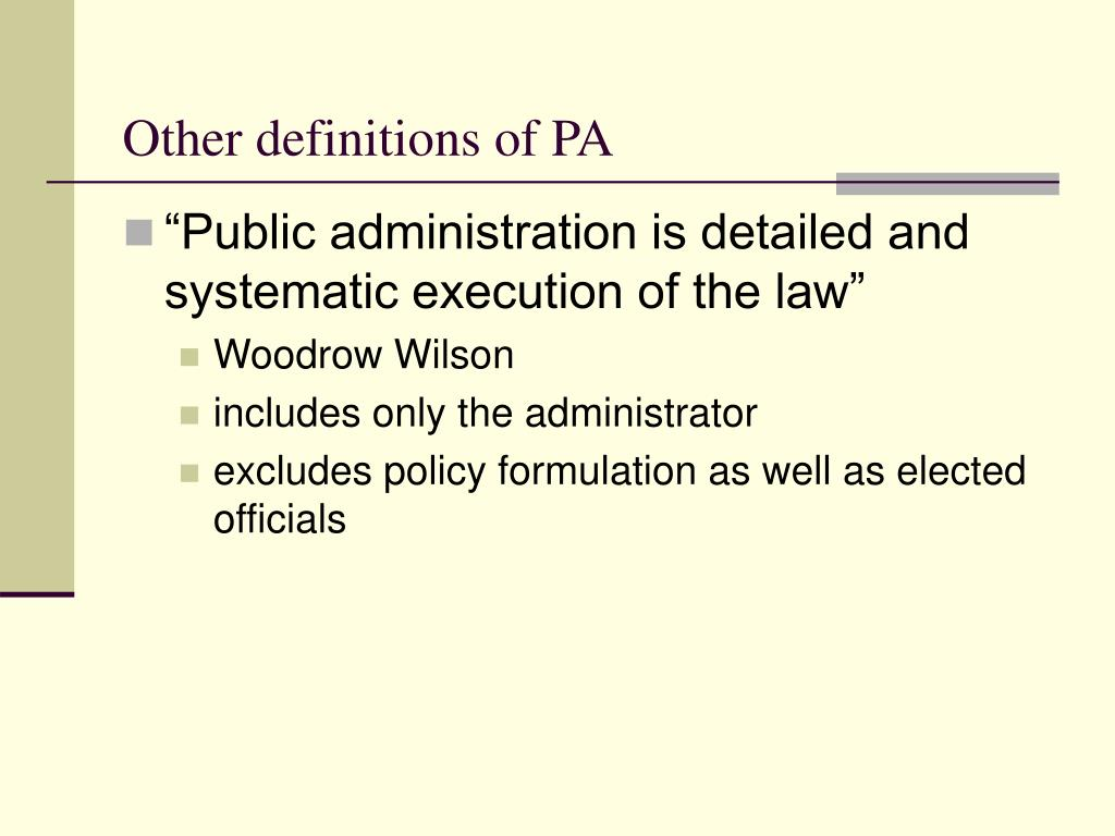 Other definitions of PA