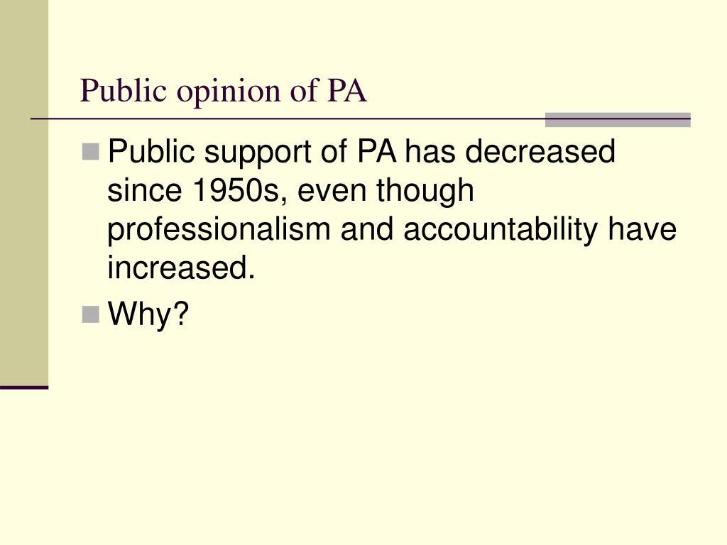 Public opinion of PA