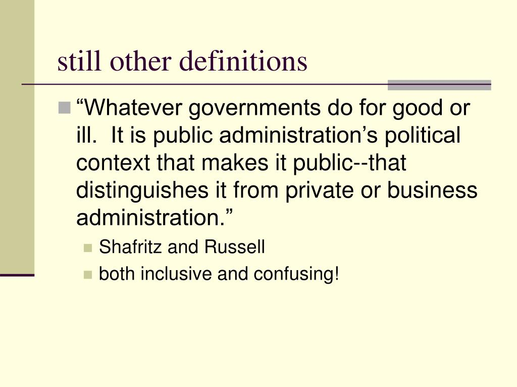 still other definitions