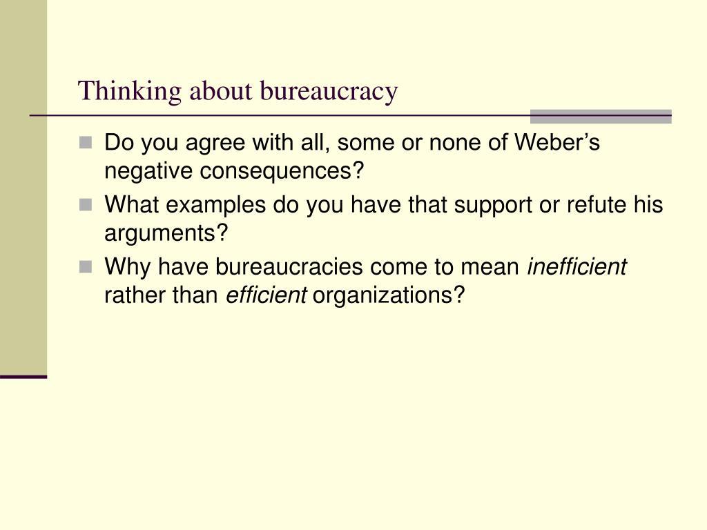 Thinking about bureaucracy