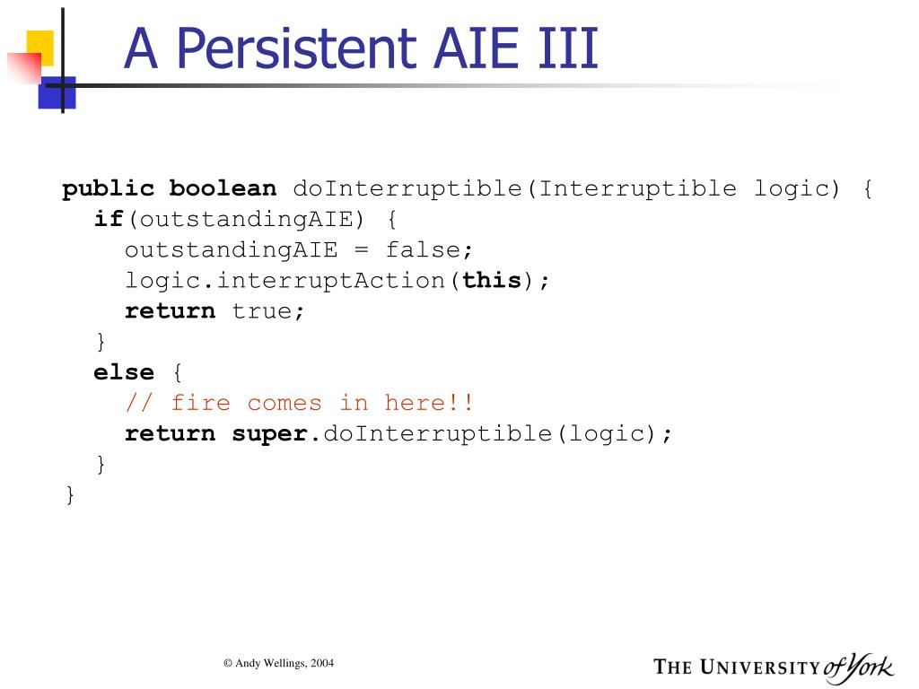 A Persistent AIE III