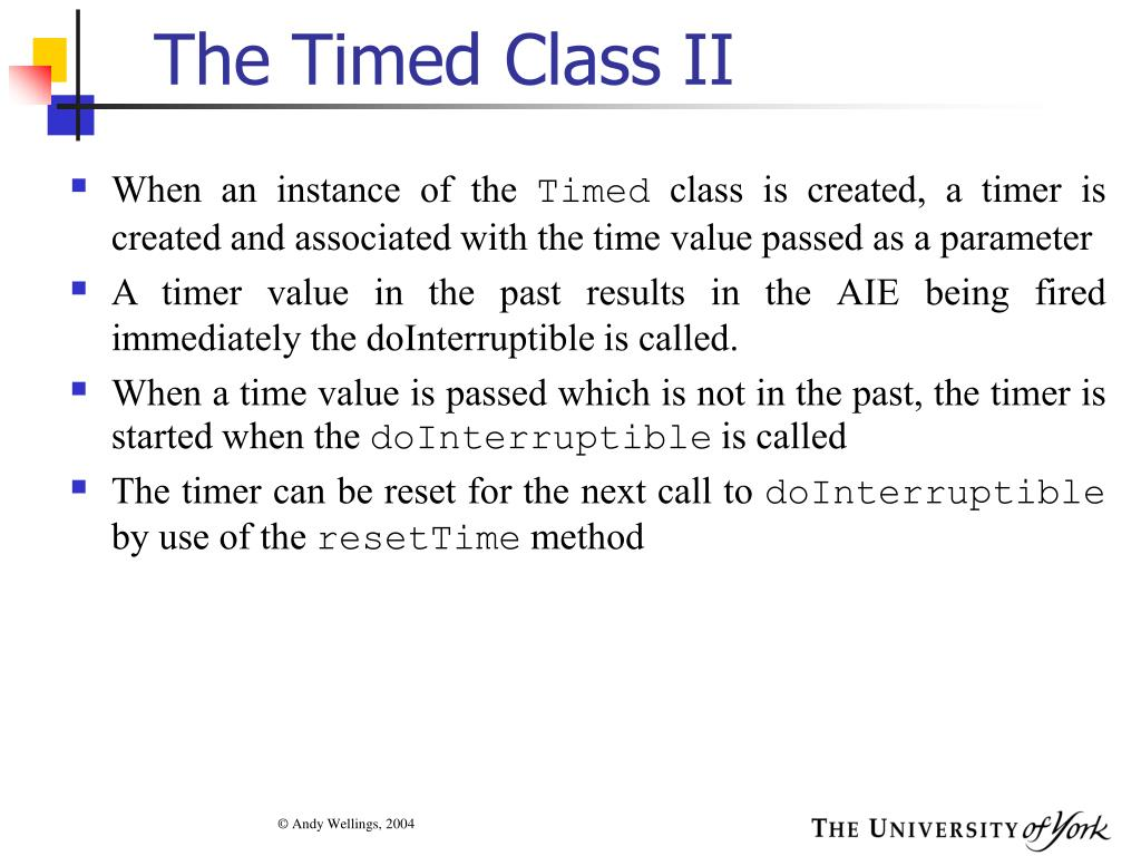 The Timed Class II
