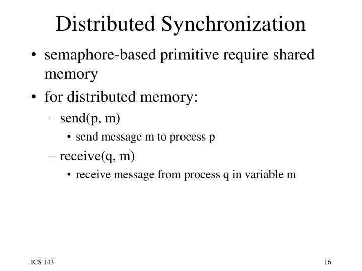 Distributed Synchronization