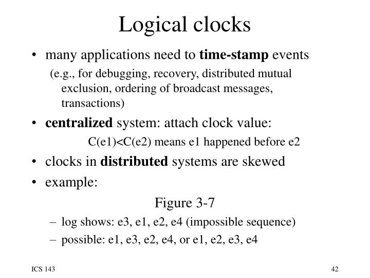 Logical clocks